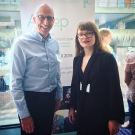 Ray Mowat (Lakeland Carers) & Karen Guthrie at the 2nd Aesop Arts & Health Showcase