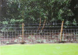 Narbi Price, Untitled Fence Painting (Colliery), acrylic on board 70x50cm