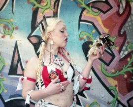 Sophie Lisa Beresford - Makem Geordie Goddess (with Skull Graffiti)
