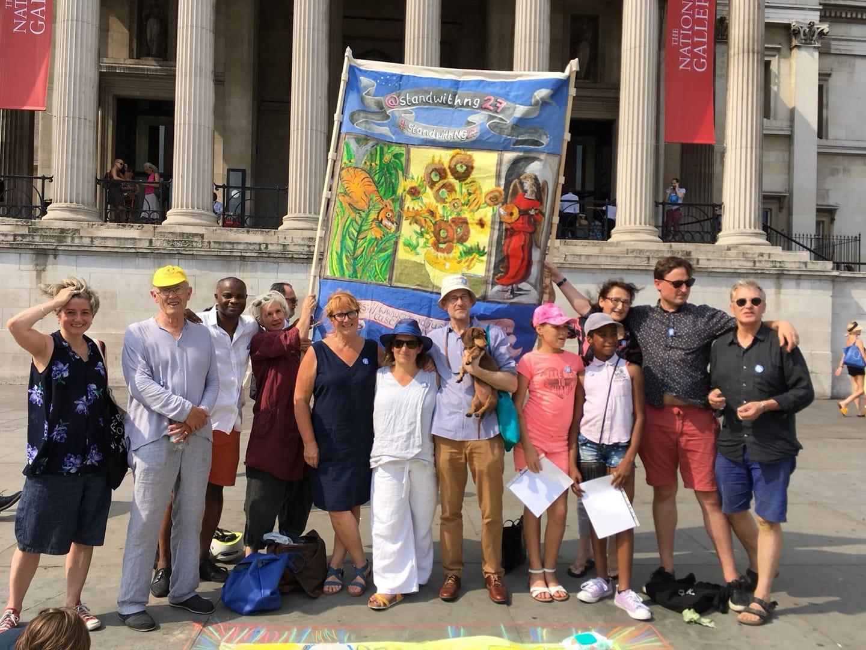 NG27 Draw With Us event, Trafalgar Square London 27 July 2018
