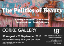 Corke Gallery The Politics of Beauty A6 flyer Chrissy artwork