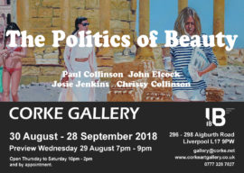 Corke Gallery The Politics of Beauty A6 flyer Paul artwork