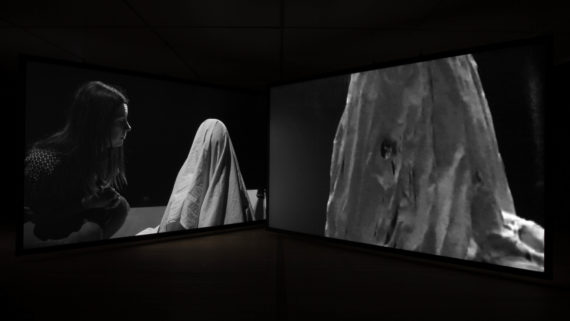 Gail Pickering, Near Real Time, 2015. Three-channel video installation. © Gail Pickering 2015. Courtesy of the Artist and BALTIC.