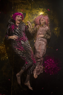 Liz Clarke and Felix Council, I'm Bitter About Glitter, a mother and son cabaret collaboration, Watershed, Bristol 2018. Photo: Carl Newland