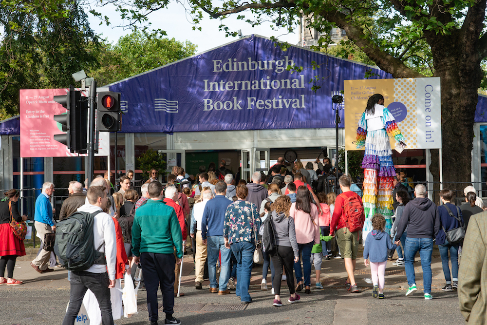 Opening shots from the Edinburgh International Book Festival 2018. Photo: © Alan McCredie.