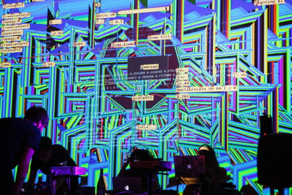 Antonio Roberts, Chemical Algorave. Photo: Antonio Roberts