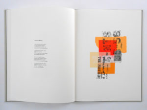Jim Butler, Blackrock Sequence,, with poems by David Butler. Signed and numbered edition of 20 copies, 2017, 24pp, 38 x 28.5 cm. Screenprinted in 12 colours on BFK Rives; case- bound with screenprinted cover. Printed and bound by the artist in Cambridge. Photo: Jim Butler