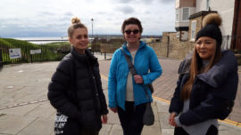 three of our project team in Tynemouth