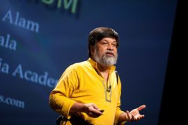 Shahidul Alam. Photo: Kris Krüg for PopTech. Licensed under the Creative Commons Attribution-Share Alike 2.0 Generic license. https://commons.wikimedia.org/wiki/File:Shahidul_Alam_-_PopTech_2011_-_Camden_Maine_USA_(6263773484).jpg