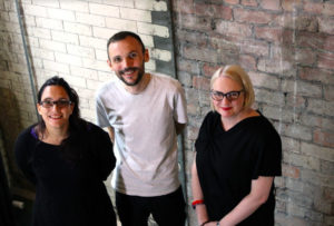 Left to right: Benedettad Ettorre, JonathanWard and Gaynor Seville. Photo: East Street Arts