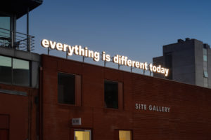 Different Today by Tim Etchells commissioned by Site Gallery. Photo: Jules Lister; Courtesy: Site Gallery 2018