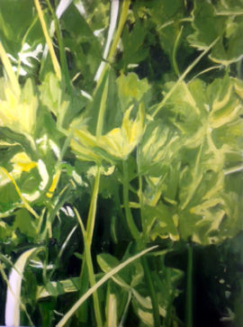 Green 1 oil painting Diana Hand
