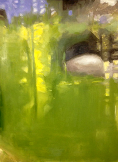 Green 2 oil painting landscape Diana Hand