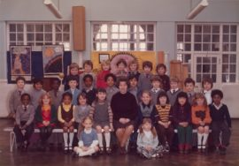 Steve McQueen's Year 3 class at Little Ealing Primary School, 1977. (McQueen is  fifth from left on the middle row). Courtesy: the artist / Tate