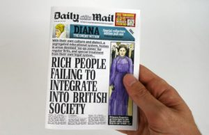 Darren Cullen, Mini Daily Mail. Photo: via Darren Cullen's Kickstarter (https://www.kickstarter.com/projects/1767571325/a-horrid-little-newspaper-satirical-scale-model-da/)