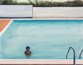 Swimming Pool, 2018, oil on canvas (photo: Peter Mallet)