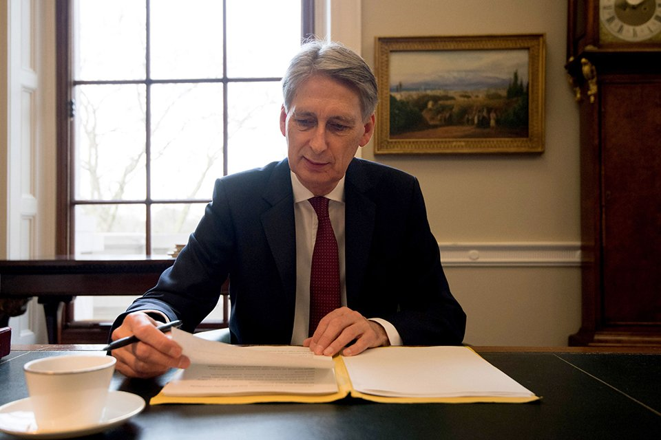Chancellor Philip Hammond. Photo: via Twitter @hmtreasury