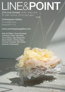 Exhibition Poster, work pictured by Kelly O' Brien