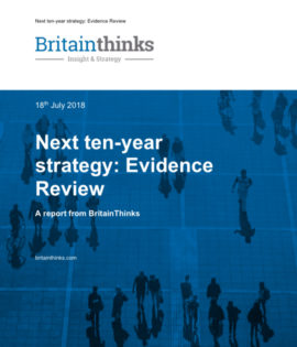 Next ten-year strategy: Evidence Review