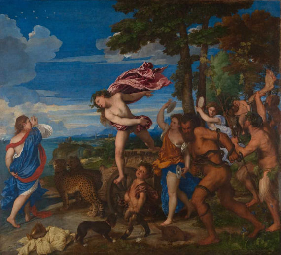 Titian, Bacchus and Ariadne by Titian. Courtesy: The National Gallery, London