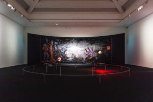 Otobong Nkanga, Artes Mundi 8, exhibition view, National Museum Cardiff. Photo: Stuart Whipps; Courtesy: Artes Mundi
