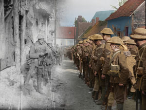 A New Film by Peter Jackson (2018) Image credit: This film still from 'The Battle of the Somme' has been restored and colourised by WingNut Films with Peter Jackson.© IWM (IWM 191) Original black and white