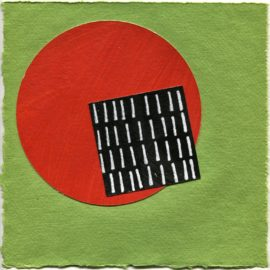 Contemporary abstract drawing by David Smith from #BlackSquares365 art-every-day project