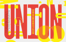 Union logo, written in big red letters