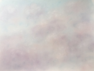 Art by Lynne Forrester: Blog - 30 Paintings in 30 Days, Day Twenty-Eight - 'Rose-tinged Bursts' (Cloudscape painting in soft pastels)