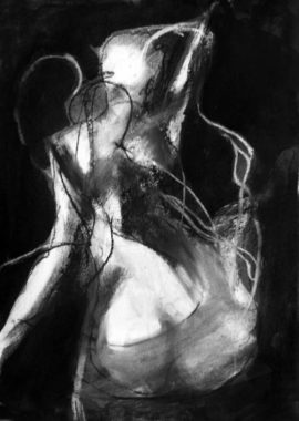 Ghost Drawing Charcoal by Diana Hand