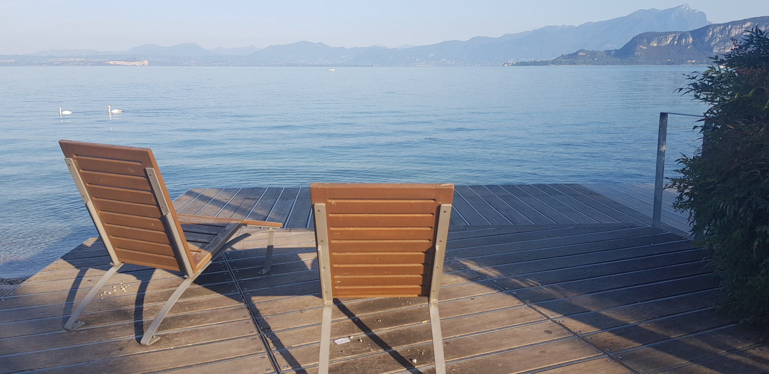 chairs by Lake Garda