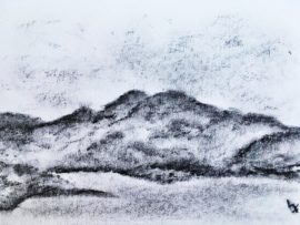 Lynne Forrester: Eilean Horrisdale Meall na h-Airde and An Tor from the GALE Centre Gairloch