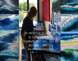 exhibition of seascape paintings 30thJune-19thJuly Pavilions Teignmouth