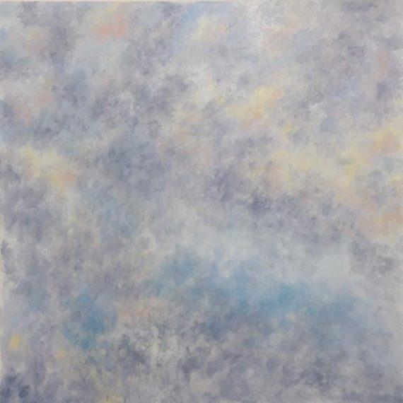 Lynne Forrester, Artist: Inner Light (cloudscape painting, oil on canvas, 1mx1m)