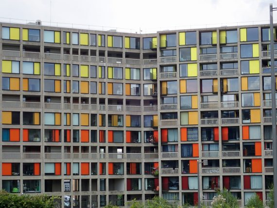 Park Hill Estate, viewed from opposite S1 ArtSpace, Sheffield