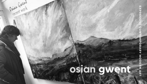 Welsh artist and painter Osian Gwent