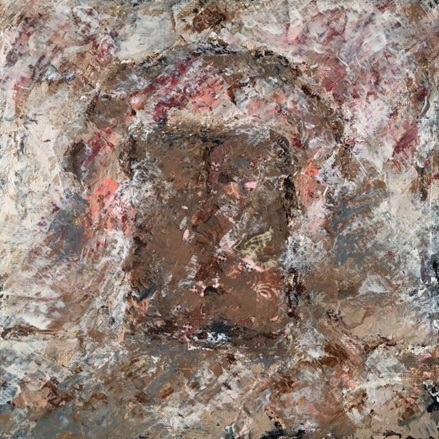 Lynne Forrester Artist: door#10 (mixed media on canvas board)