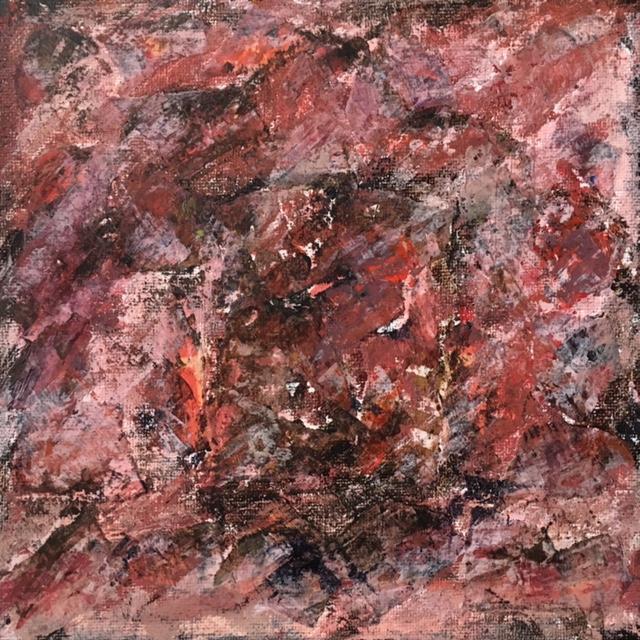 Lynne Forrester, Artist: door#20 (mixed media on canvas board)