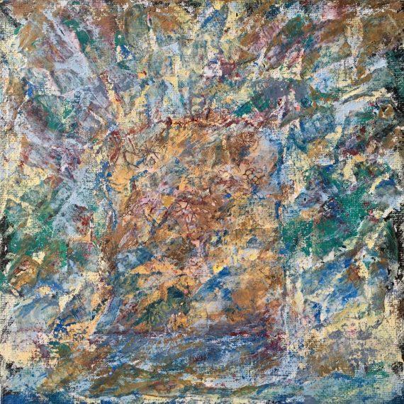 Lynne Forrester, Artist: door#21 (mixed media on canvas board)