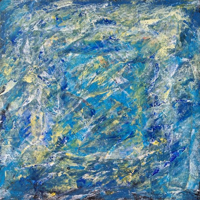 Lynne Forrester, Artist: door#22 (mixed media on canvas board)