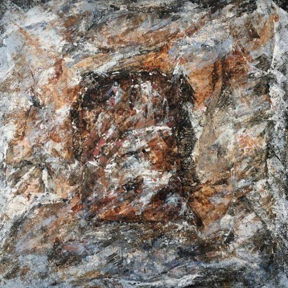 Lynne Forrester, Artist: door#23 (mixed media on canvas board)