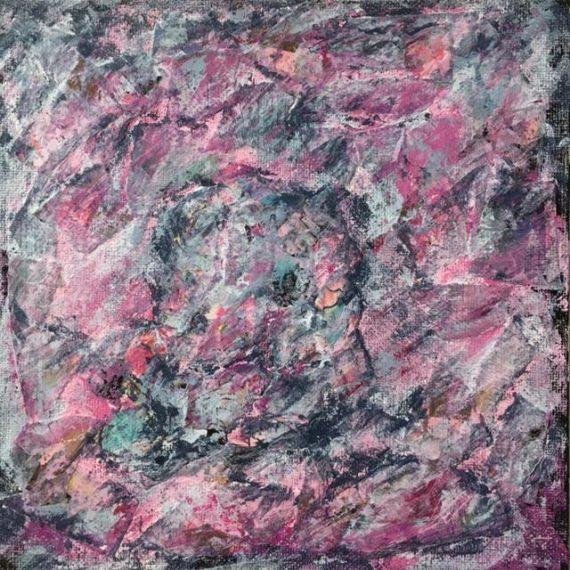 Lynne Forrester, Artist: door#28 (mixed media on canvas board)