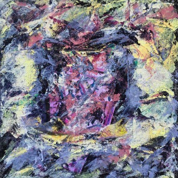 Lynne Forrester, Artist: door#29 (mixed media on canvas board)