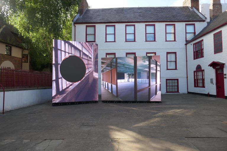 Jane and Louise Wilson, Suspended Island, installation at Low Yard, Newcastle upon Tyne, 2018.