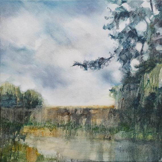 Detour, 2020, oil on canvas (61 x 61cm) | Julia Brown