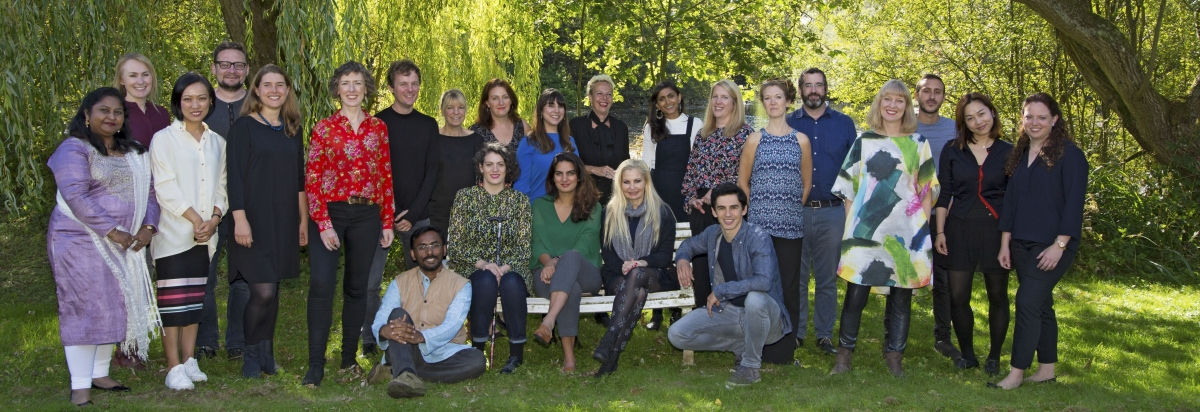 The Clore 2018/19 Fellows at their September residential course