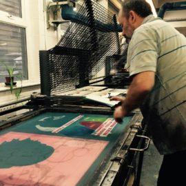John Patrick Reynolds at the London Print Studio