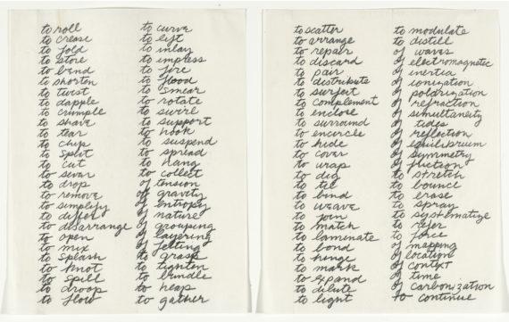 Richard Serra, Verblist, 1968
