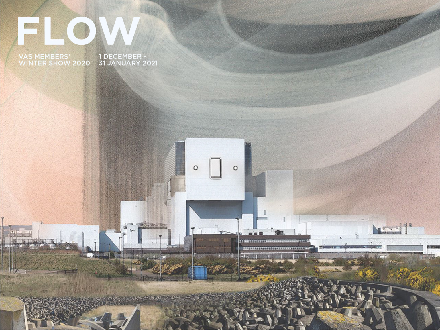 FLOW - VAS members' winter exhibition - Image credit: Esther Cohen 2020 – '10 years until decommission' Design by Harry Martin