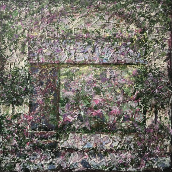Lynne Forrester, Artist: Blushing Blooms (mixed media painting on canvas)